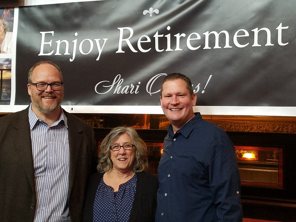 Keller Macaluso wishes Shari Owens a happy retirement!